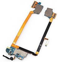 Шлейф для LG D802 Optimus G2/D805, с разъемом зарядки, разъемом наушников, микрофоном, компонентами