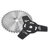 Мотокоса 1.8 кВт; 7000 об/мин; 40-зубчатый диск с твердосплавными напайками; 3-зубчатый нож  INTERTOOL DT-2238, фото 6