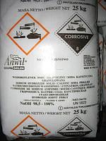 Сода каустическая (натрий едкий) чешуированный 25 кг