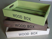 Ящик деревянный для интерьера, фото 1