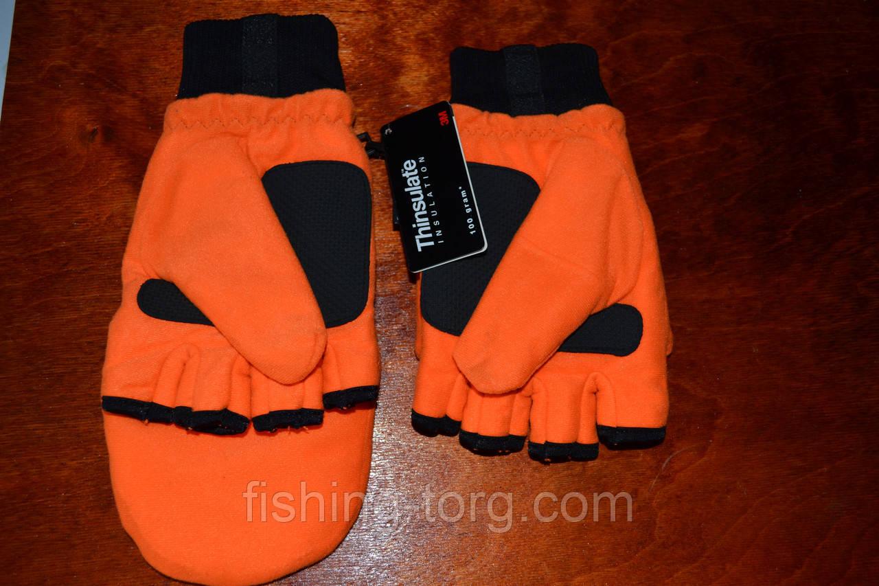 Перчатки рыбалка-охота Оранжевые!