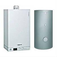 Конденсационный газовый котел Viessmann Vitodens-100 WB1C261 с емкостным водонагревателем Vitocell 100-W