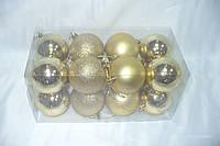 Елочные шары   6см золото 16шт, фото 1