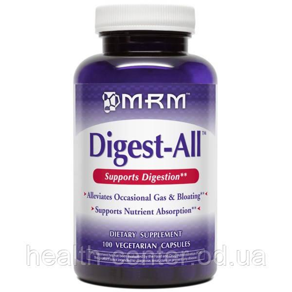 Digest-All 100 капс  растительные ферменты (энзимы) для пищеварения иммунитета противовоспалительное  MRM USA