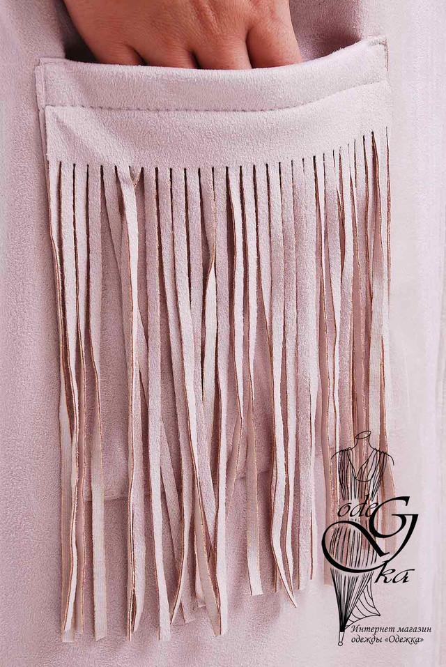 Фото-2 Женского платья из замши Аэлита