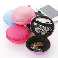 Жесткий защитный чехол для наушников и прочих аксессуаров (фиолетовый)