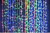 Светодиодная гирлянда штора бахрома цвет мульти на 108 диодов
