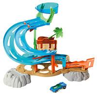 Трек Hot Wheels Водный Парк Аквапарк из серии Поменяй цвет