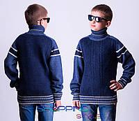 Зимний шерстяной свитер на мальчика