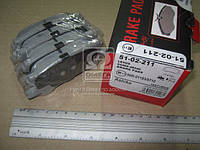 Колодка тормозной LEXUS RX (Производство ASHIKA) 51-02-211