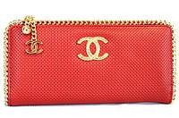 Chanel 0820 клатч женский кожаный