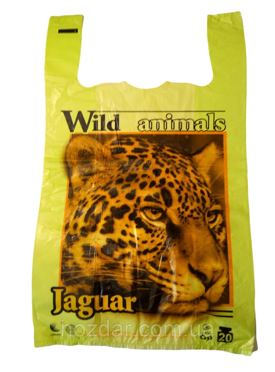 """Пакет майка з малюнком """"Jaguar"""" 30х50 250шт."""