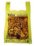 "Пакет майка с рисунком ""Jaguar"" 30х50 250шт."