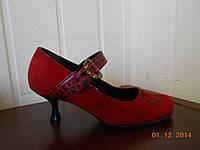 Замшевые туфельки на рюмочке, фото 1