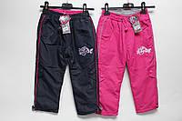 Утепленные штаны из плащевки на флисе для девочки