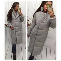Женская теплая длинная куртка (разные цвета)