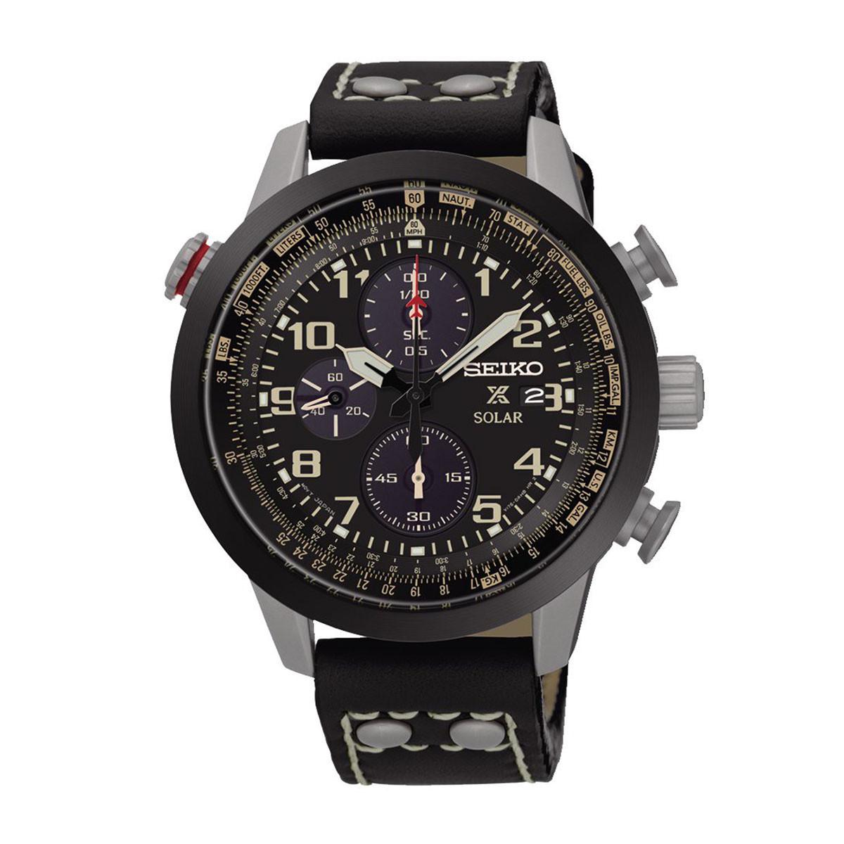 Часы Seiko Prospex Aviator SSC423P1 хронограф SOLAR