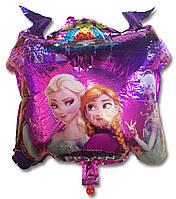 Фольгированный воздушный шарик Замок Холодное сердце  60 х 52 см.
