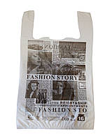 "Пакет майка с рисунком ""ЭКО Газета"" 28х47 250шт."