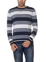 Мужской свитер LC Waikiki в серо-бело-темно-серыми полосы