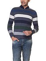Чоловічий светр LC Waikiki у сіро-біло-темно-сірими смуги, фото 1
