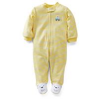 Человечек хлопковый Carters желтый Мишка, Размер 3м, Размер 3м