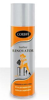 Аэрозоль краска для гладкой кожи Corbby Черный