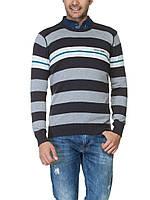 Мужской свитер LC Waikiki / ЛС Вайкики в серо-бело-темно-серые полосы, фото 1