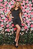 Черное платье sk house c V-образным вырезом: s,m, фото 2