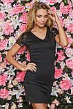 Черное платье sk house c V-образным вырезом: s,m, фото 4