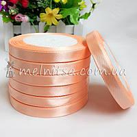 Атласная лента 1 см, №7 персиковый, рулон 23 м