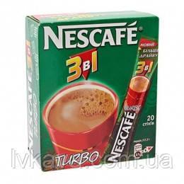 Кофейный напиток Nescafe Turbo 3 в 1 ,20 пак, фото 2