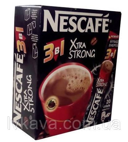 Кофейный напиток Nescafe XtraStrong  3 в 1 ,20 пак, фото 2