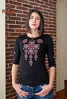 Жіноча вишиванка Писанка червоно-сіра, фото 1