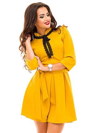 Ж143 Нежное платье с кружевом, фото 2