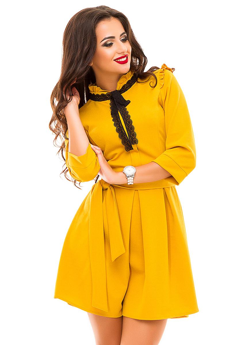 Ж143 Нежное платье с кружевом
