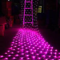Гирлянда Сетка светодиодная — 120-LED, розовая 1,5х1,5м