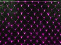 Гирлянда Сетка светодиодная — 240-LED, 2х2 м розовая