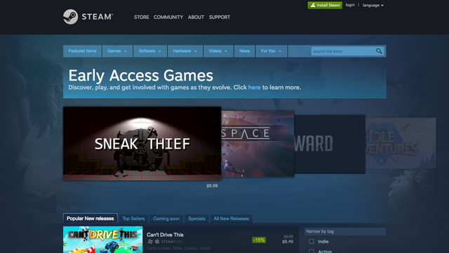 Early Access Steam Valve