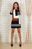 Платье женское трикотаж линии