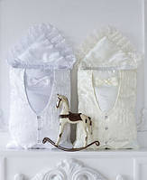 Конверт для новорожденного нарядный меховый