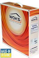 Тонкий двухжильный нагревательный кабель Woks 10, 100 Вт, площадь обогрева 0,7 — 1,3 м²