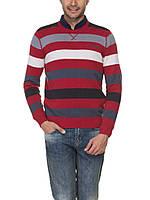 Мужской красный свитер LC Waikiki в бело-серо-черные полоски, фото 1
