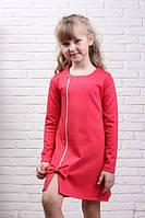 Симпатичное детское трикотажное платье на замочку