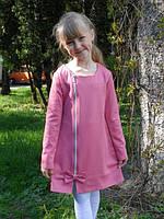 Красивое детское трикотажное платье на замочку