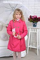 Красивый детский плащ для девочки розового цвета