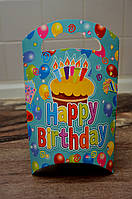 Картонная подарочная упаковка, цвет голубой, 23 см * 13,5 см * 5 см