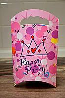 Картонная подарочная упаковка, цвет розовый, 23 см * 13,5 см * 5 см