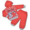 Теплый костюм с начесом на девочку, 1 годик, Турция