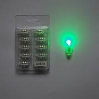 Светодиод зеленый с кнопкой для шаров